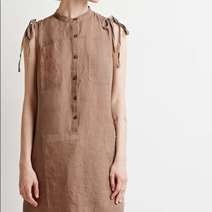 Contemporary Linen Popover Dress forever 21 small